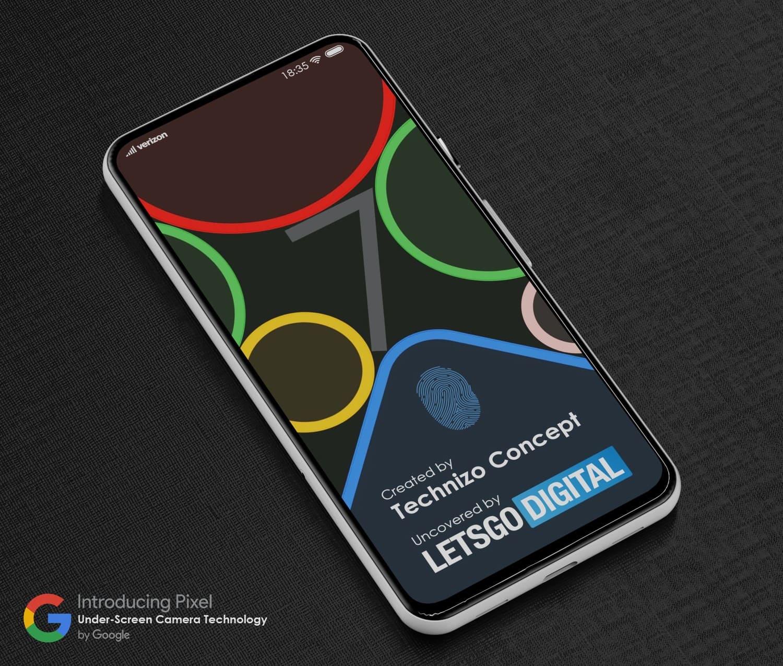 render-smartphone-google-pixel-camara-debajo-pantalla