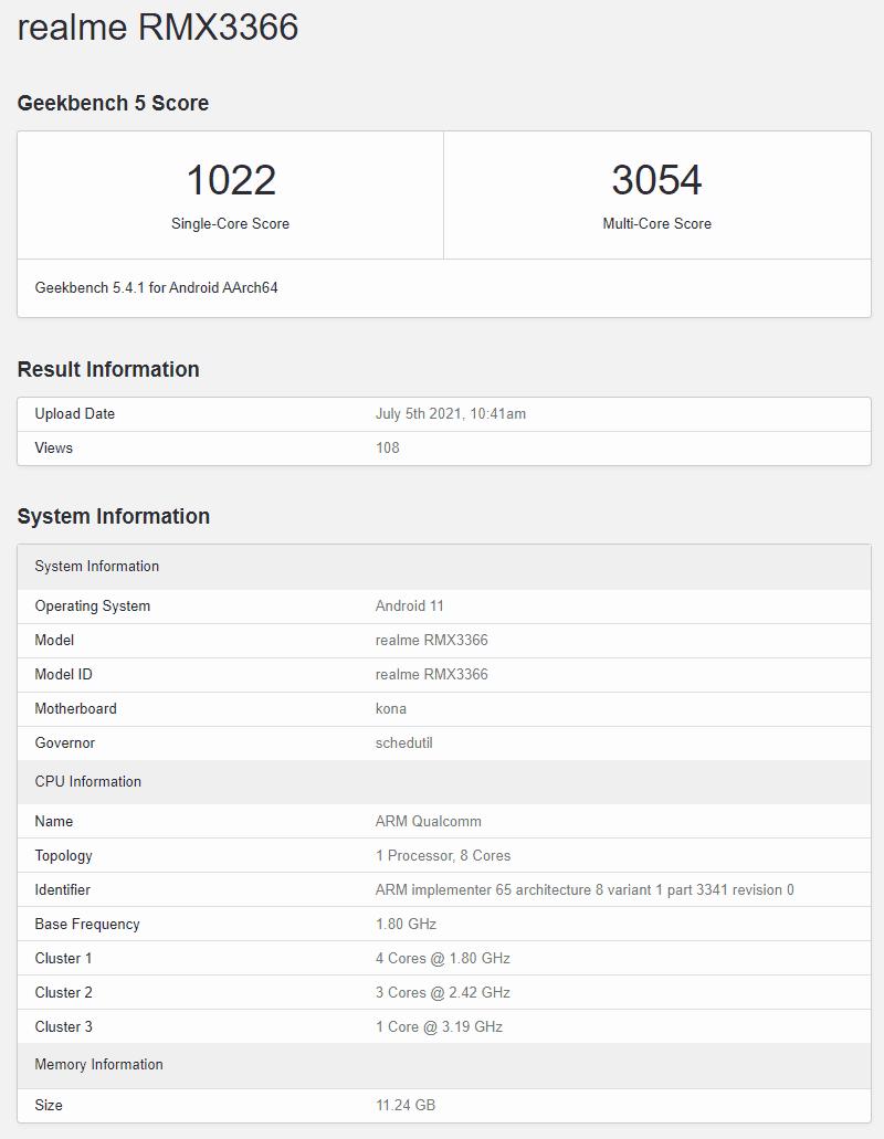 realme-x9-pro-Geekbench-test-rendimiento-filtrado