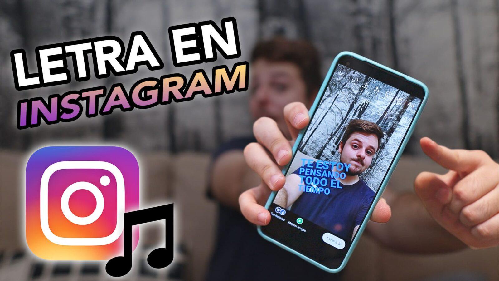 Como poner letra canciones en Instagram