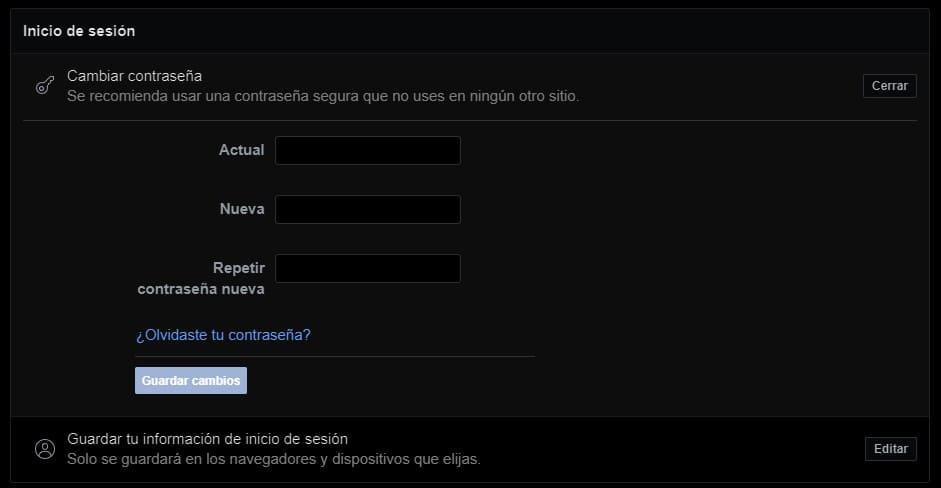 cambiar-contraseña-Facebook-navegador