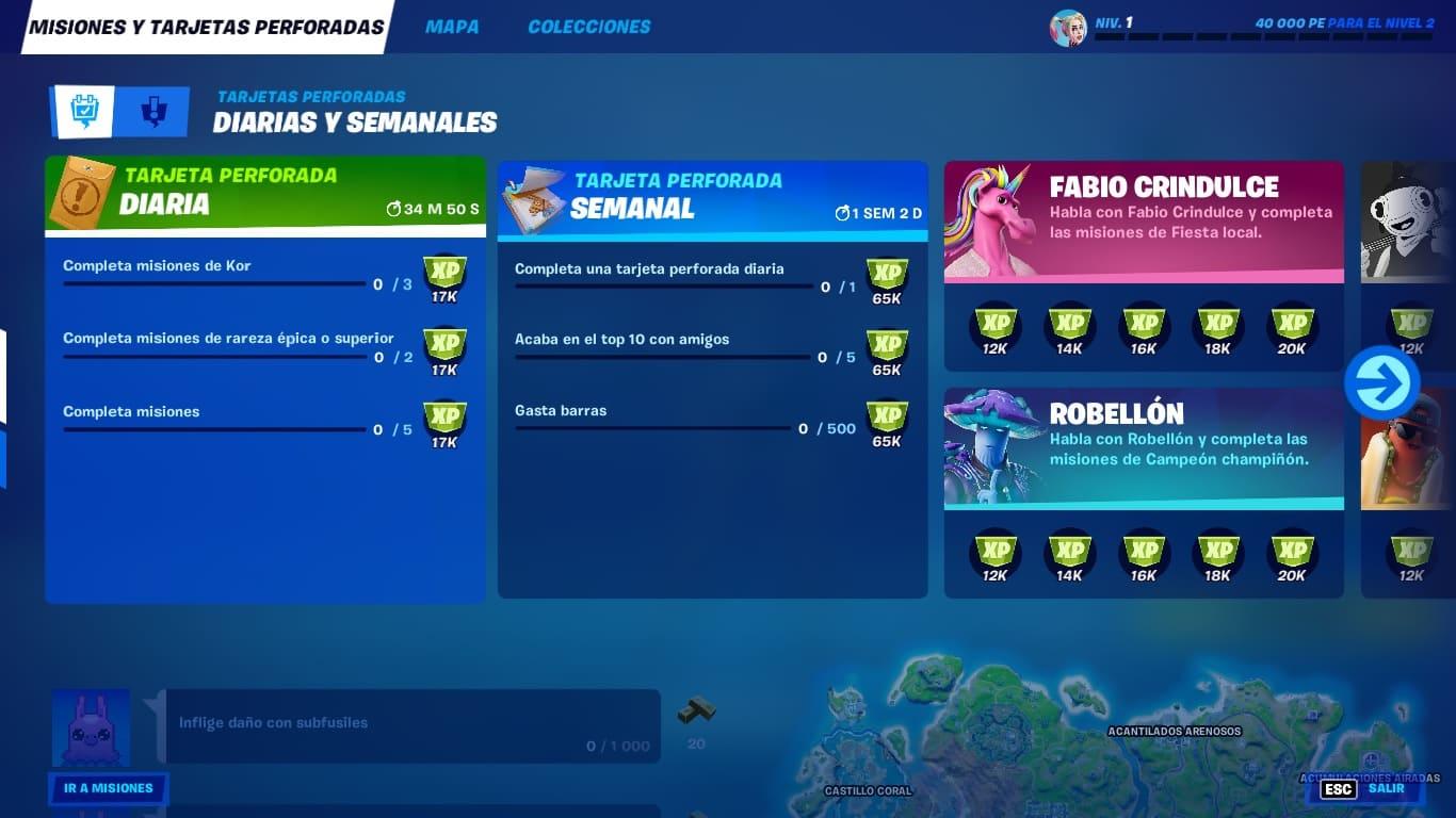 Desafíos Fortnite